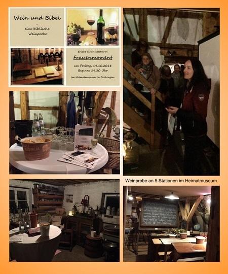 Wein & Kirche im Heimatmuseum Beihingen 2018
