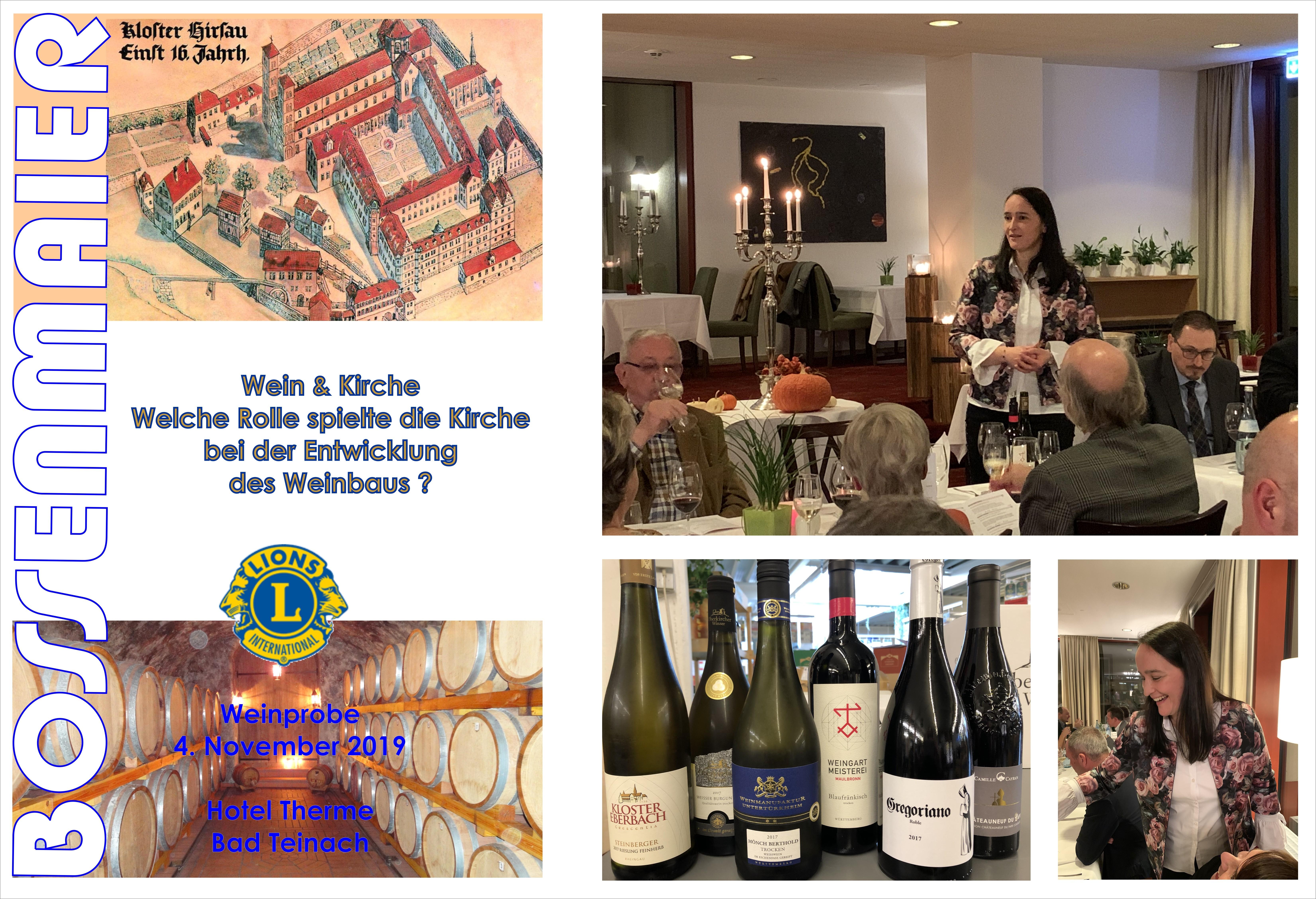 Weinprobe Clubabend Lions - Wein & Kirche