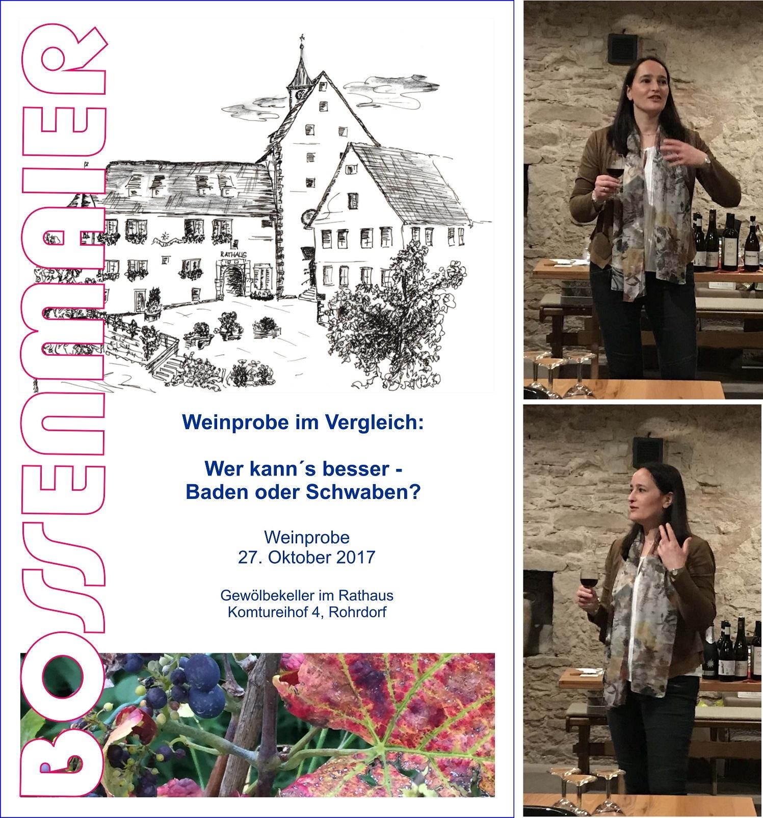 Weinprobe VHS Baden vs Schwaben